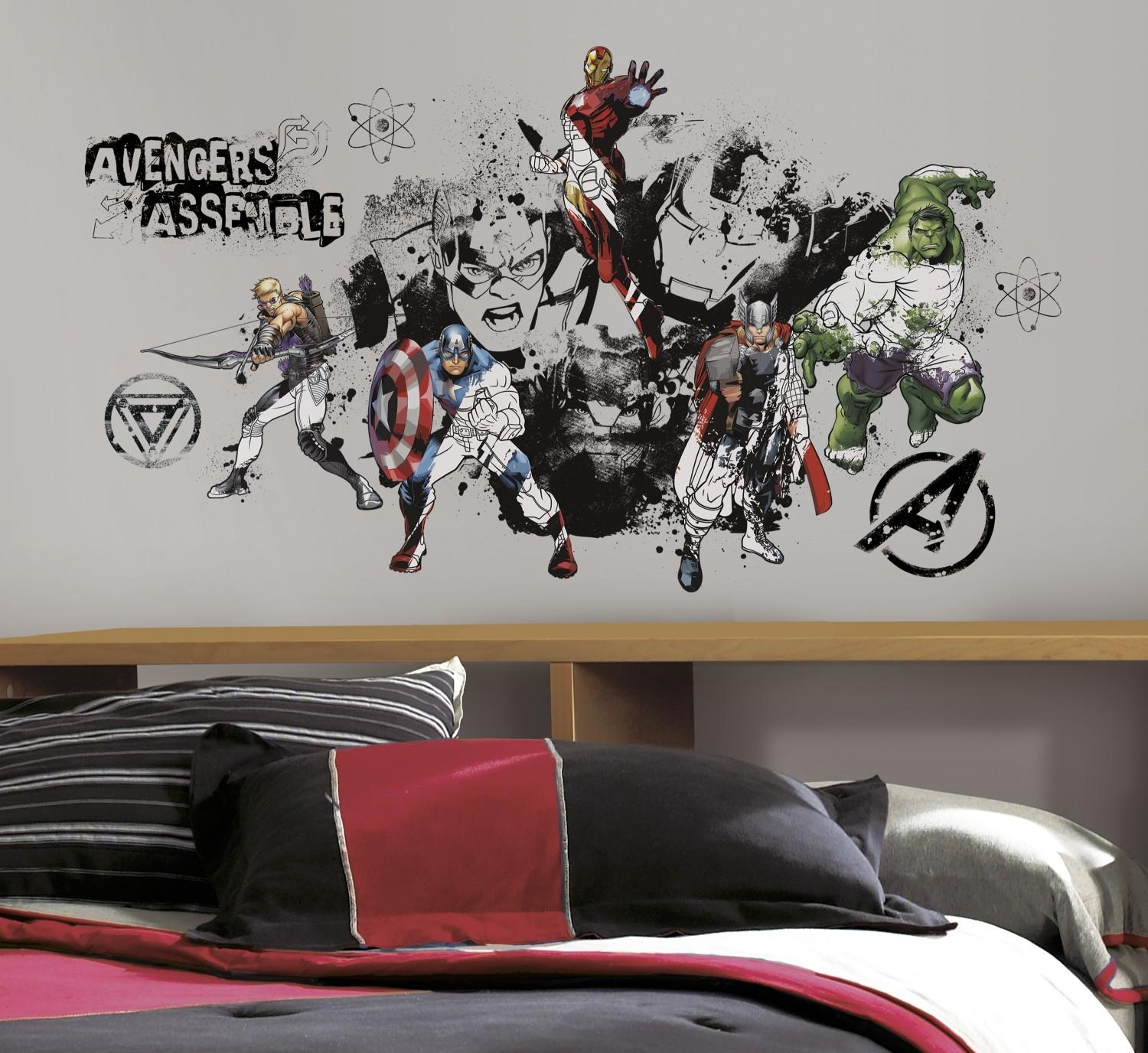 Wall Ideas: Avengers Wall Art Photo. Marvel Wall Art Canvas Within The Avengers 3D Wall Art Nightlight (Photo 18 of 20)