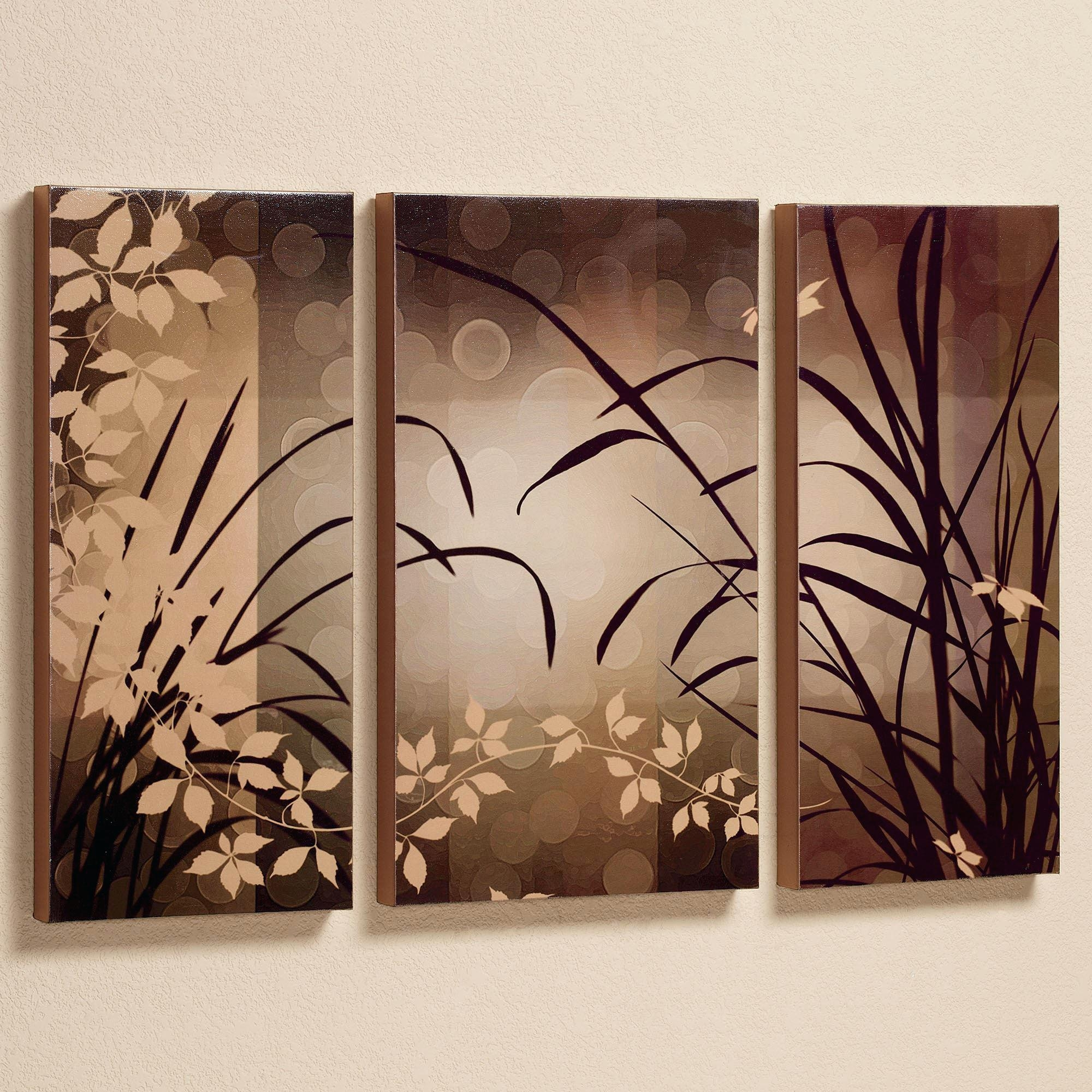 Wall Ideas : Birds Perchedflowers Canvas Wall Art Set Canvas For 3 Piece Floral Wall Art (View 8 of 20)