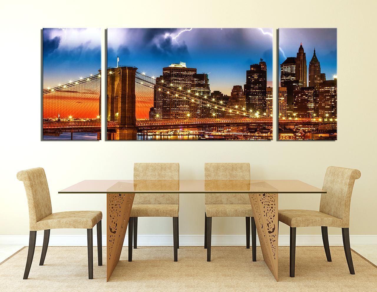 Wall Ideas : Brooklyn Bridge Glass Wall Art Zoom Ikea Brooklyn Regarding Ikea Large Wall Art (View 15 of 20)