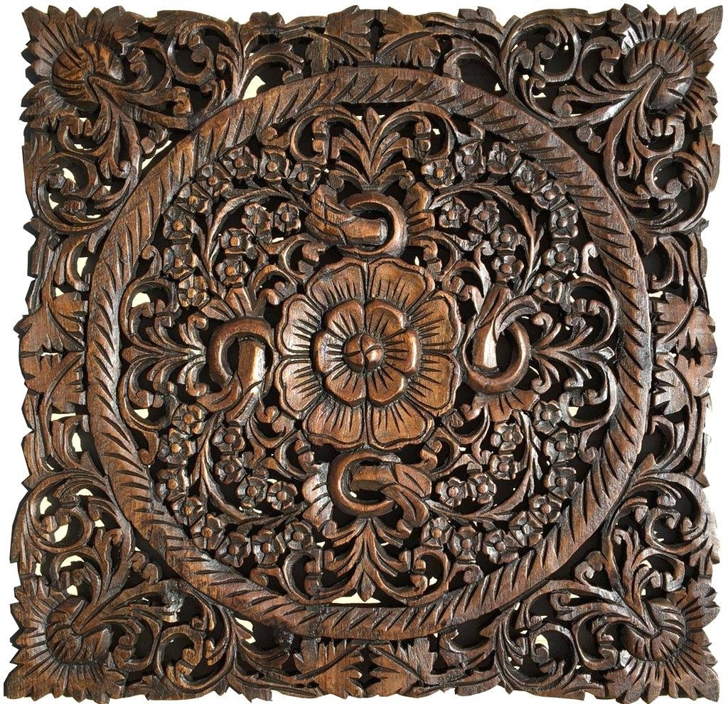 Wall Ideas : Carved Wood Wall Art Carved Wood Wall Art White Throughout Tree Of Life Wood Carving Wall Art (View 10 of 20)