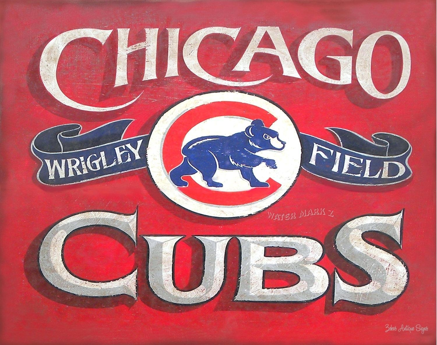 Wall Ideas : Chicago Bears Fight Song Wall Art Chicago Bears Intended For Chicago Cubs Wall Art (View 15 of 20)