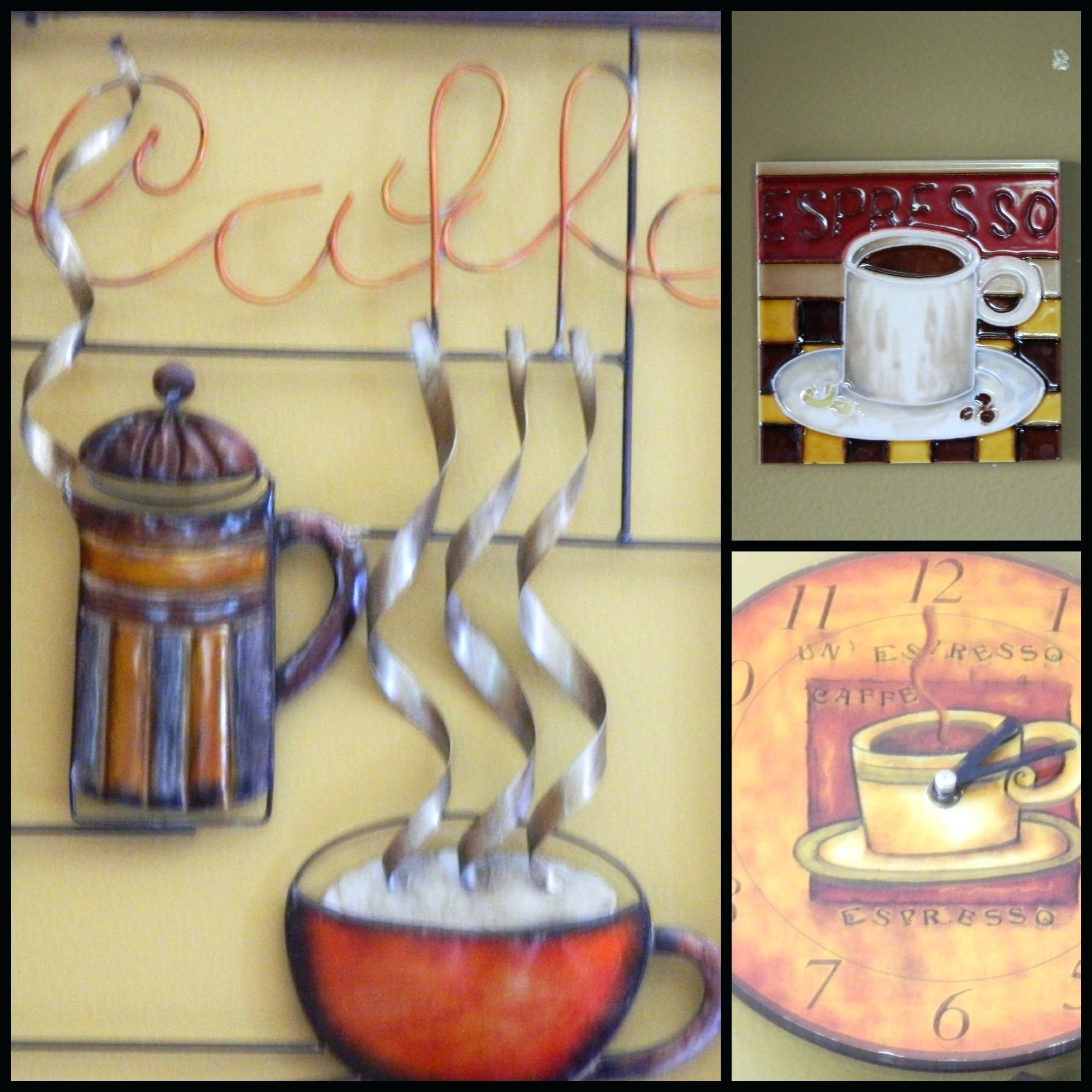 Wall Ideas : Coffee Cup Metal Wall Art 3D Metal Coffee Cup Wall Intended For Coffee Bistro Wall Art (Image 20 of 20)