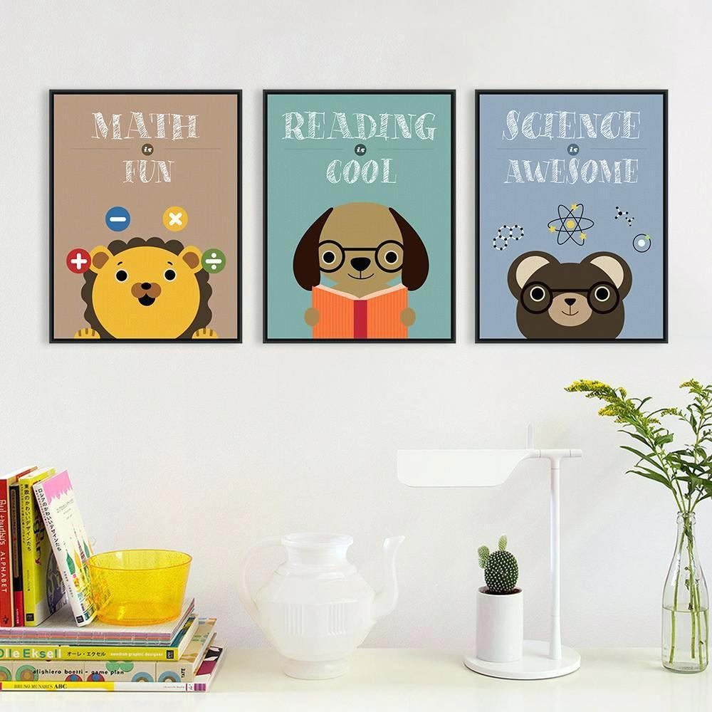 Wall Ideas : Cute Wall Art Diy Owl Nursery Wall Art Print With In Dog Sayings Wall Art (View 8 of 20)