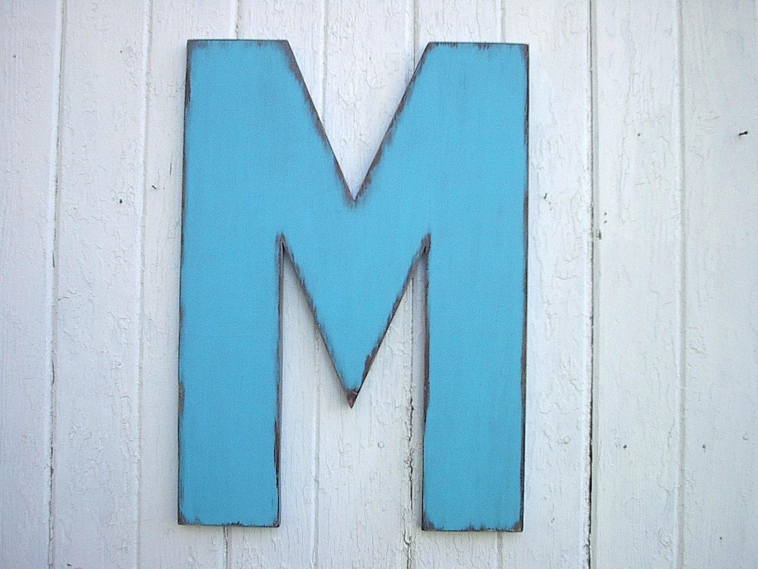 Wall Ideas : Decorative Letter M Wall Art Black Letter M Wall Intended For Teal And Gold Wall Art (View 20 of 20)