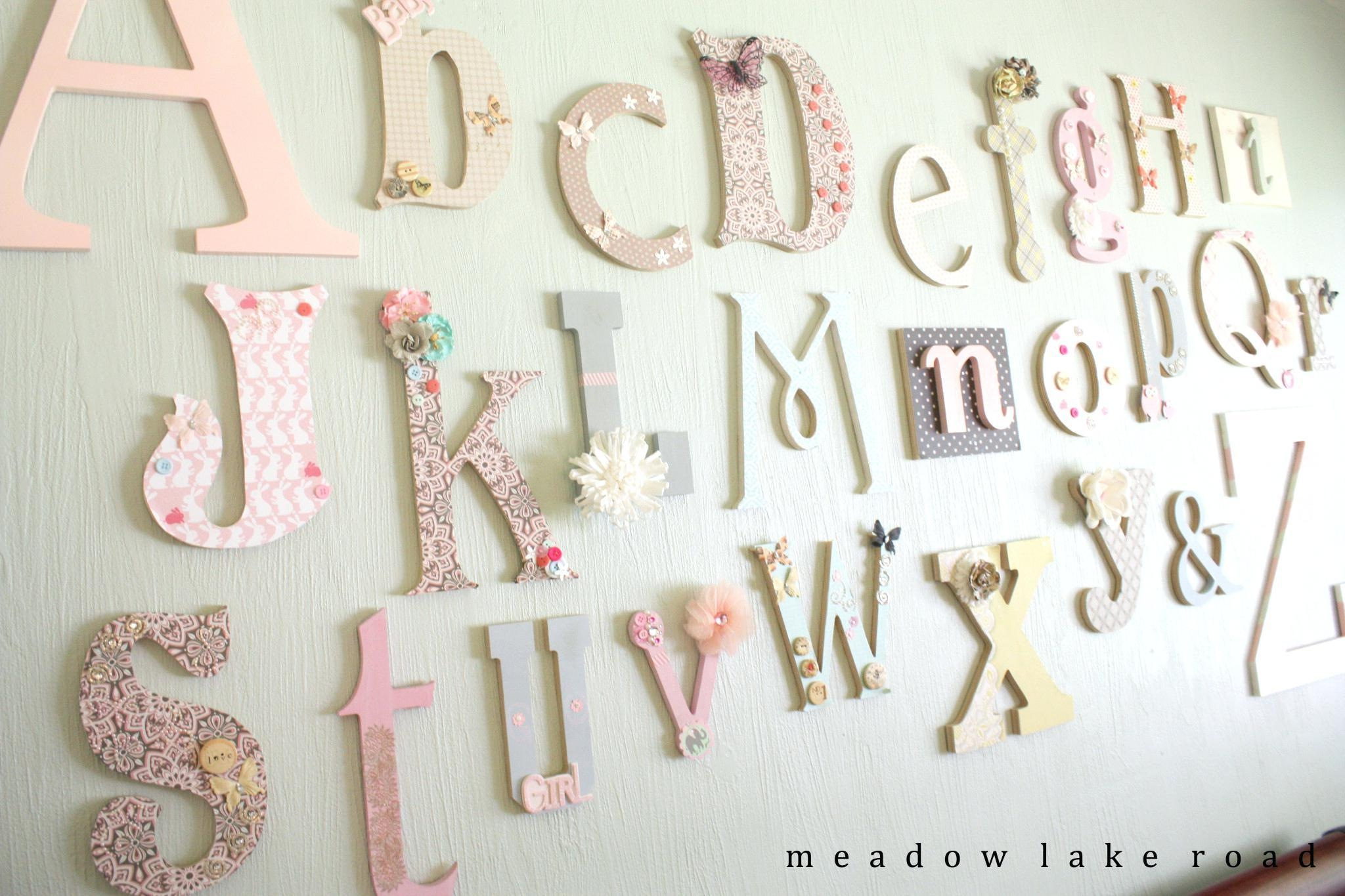 Wall Ideas: Decorative Wall Letters (View 17 of 20)