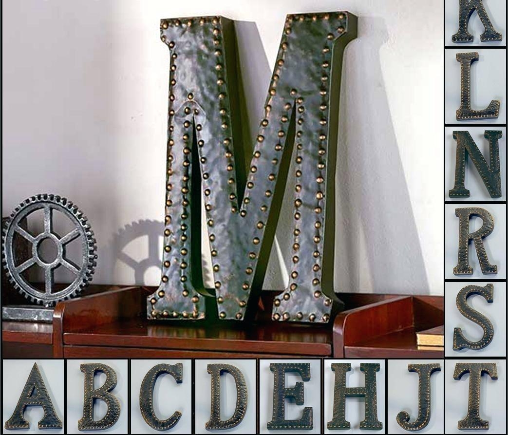 Wall Ideas: Decorative Wall Letters (View 16 of 20)
