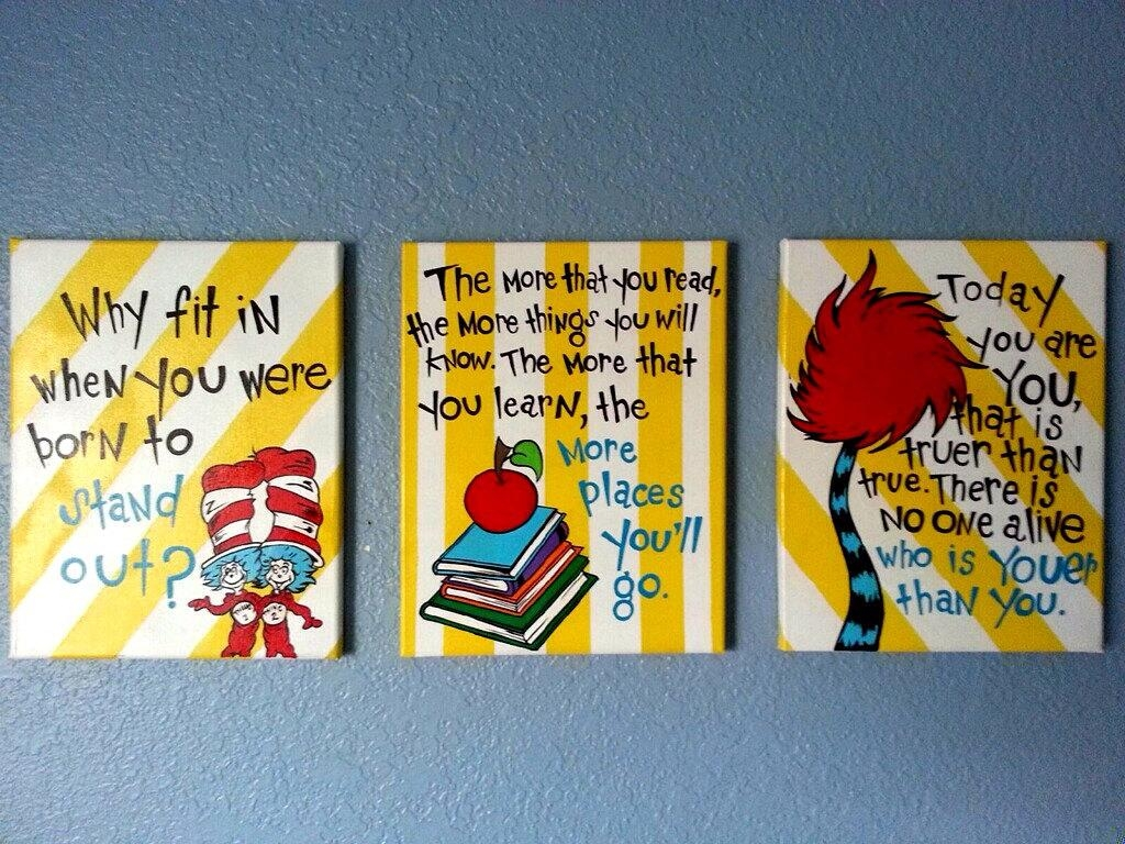 Featured Photo of Dr Seuss Canvas Wall Art