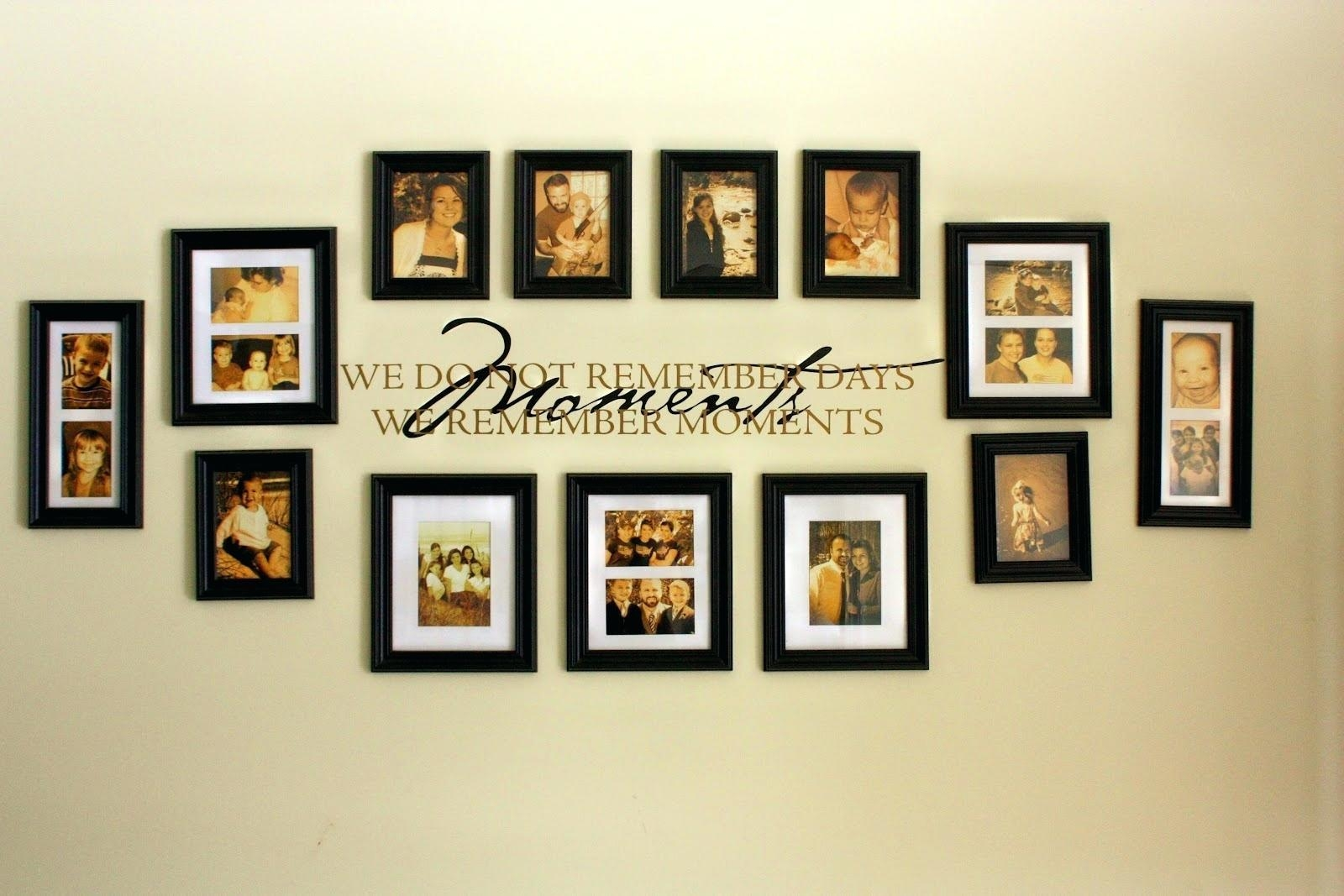 Wall Art Ideas: Family Wall Art Picture Frames (Explore #2 of 20 Photos)