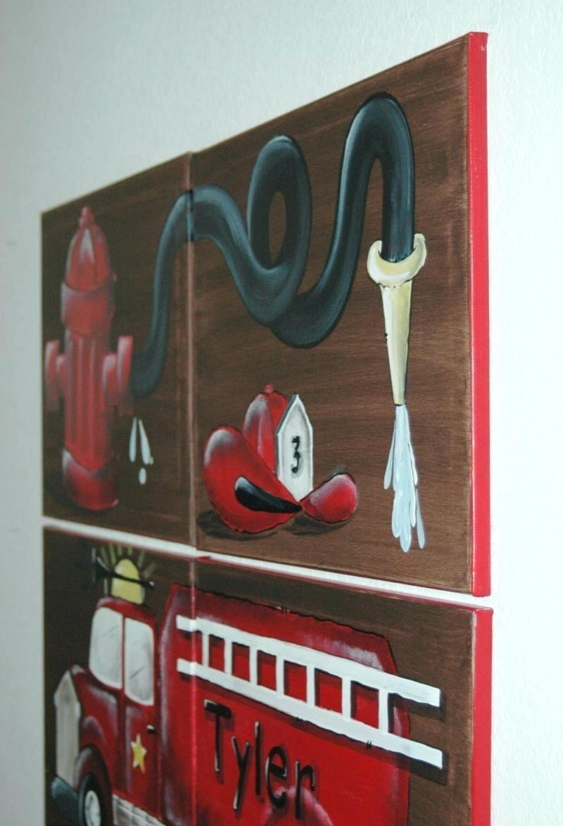 Wall Ideas: Fire Truck Wall Art. Fire Engine Wall Art (View 4 of 20)