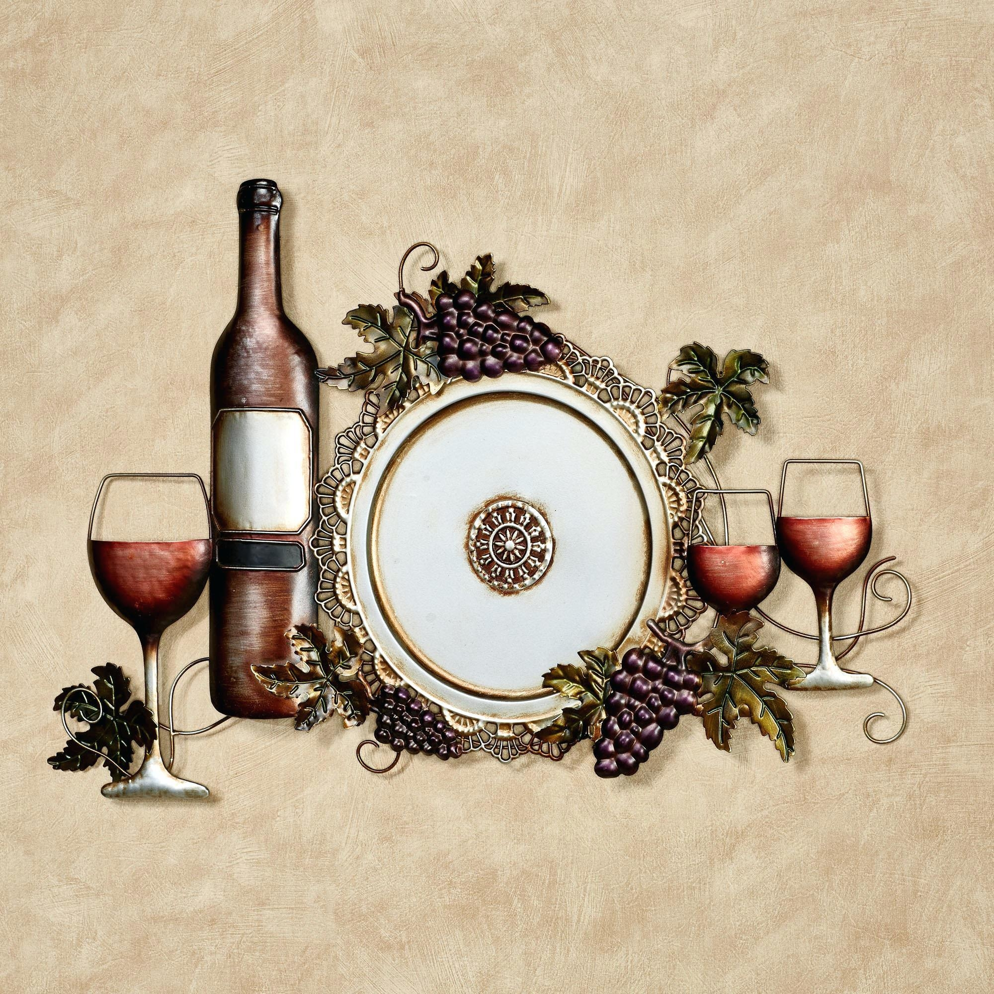 Wall Ideas : Framed Wine Wall Art Wall Decor Wine Cork Wall Art With Grape Vineyard Wall Art (View 10 of 20)
