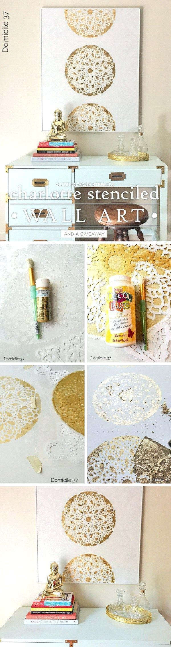 Wall Ideas : Gold Lips Canvas Wall Art Gold Bedroom Wall Stickers With Regard To Gold Wall Art Stickers (Image 15 of 20)