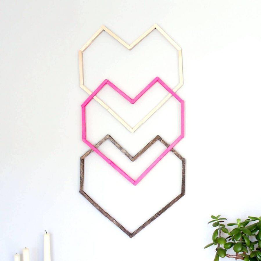 Wall Ideas : Heart Shaped Wall Decor Heart Shaped 3D Wall With Heart Shaped Metal Wall Art (Image 19 of 20)