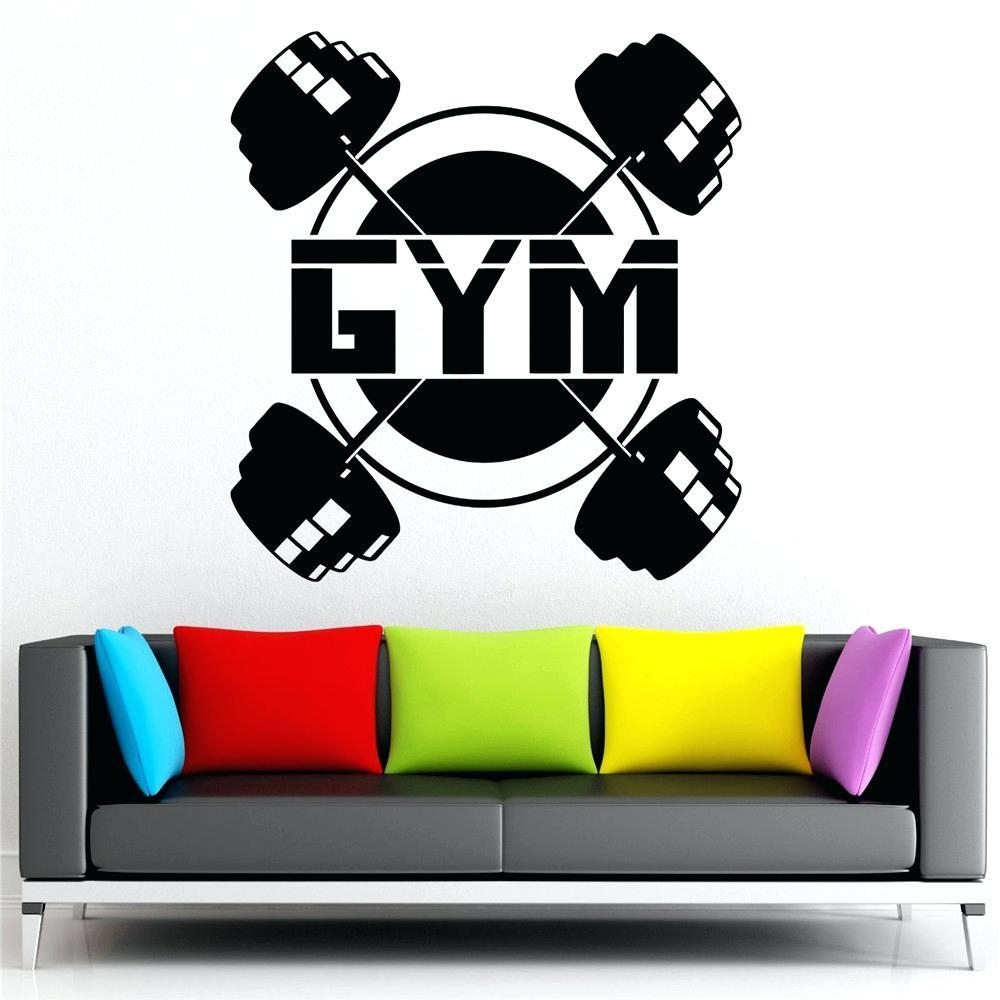 Wall Ideas: Home Gym Wall Decor. Home Gym Wall Decals (Image 17 of 20)