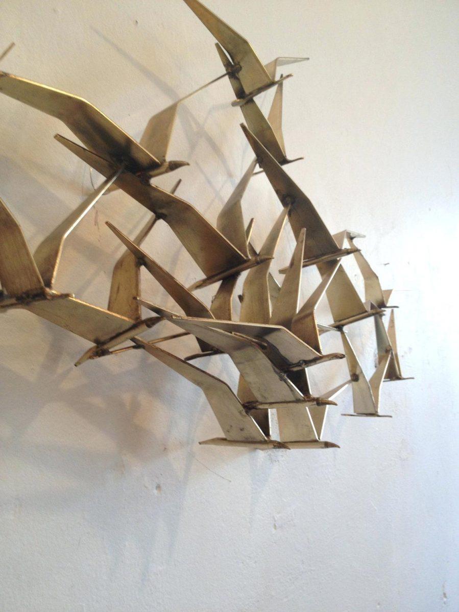 Wall Ideas : Inc Vintage Blue Flower Metal Wall Art Reviews Inside Metal Airplane Wall Art (Image 13 of 20)
