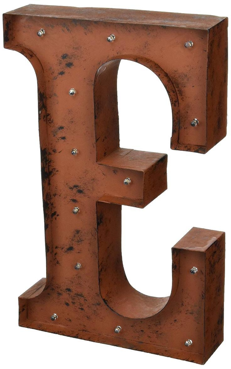 Wall Ideas : Large Metal Letters Wall Art Uk Vintage Metal Throughout Decorative Metal Letters Wall Art (View 17 of 20)