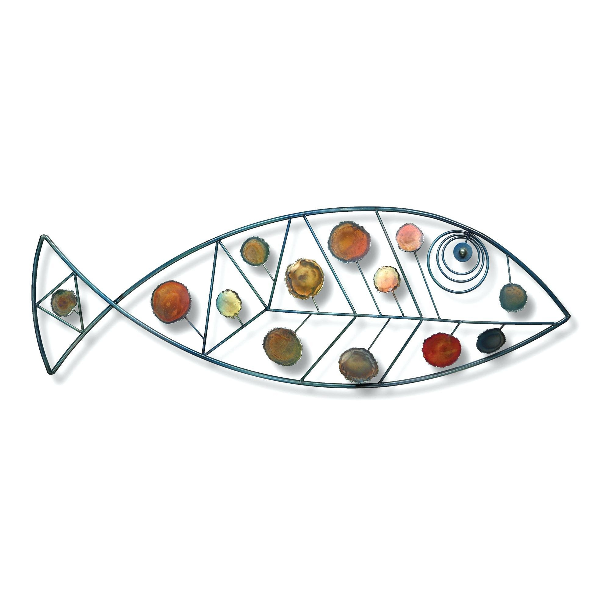 Wall Ideas : Large Wooden Fish Wall Art Ceramic Fish Wall Art Nz Regarding Metal School Of Fish Wall Art (Image 17 of 20)