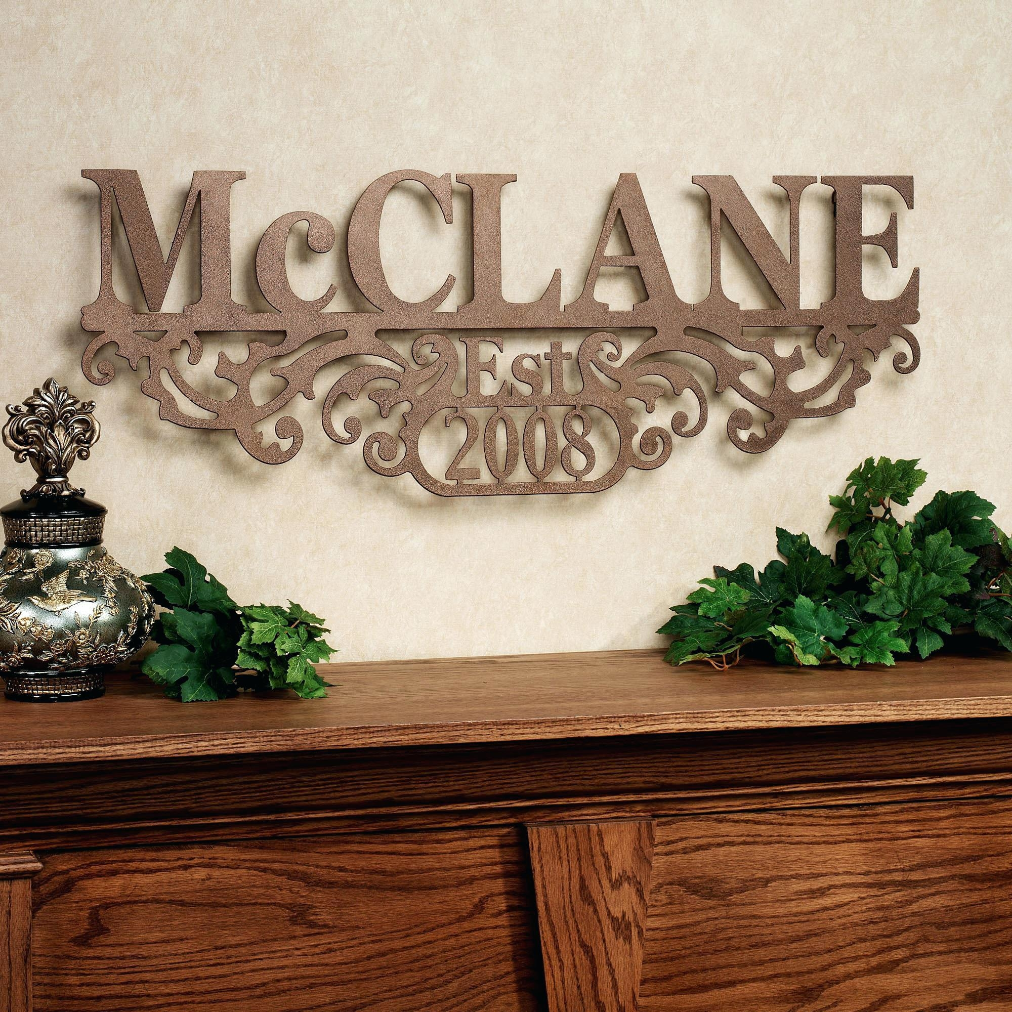 Wall Ideas : Last Name Metal Wall Art Family Metal Wall Art Uk For Faith Family Friends Wall Art (Image 17 of 20)