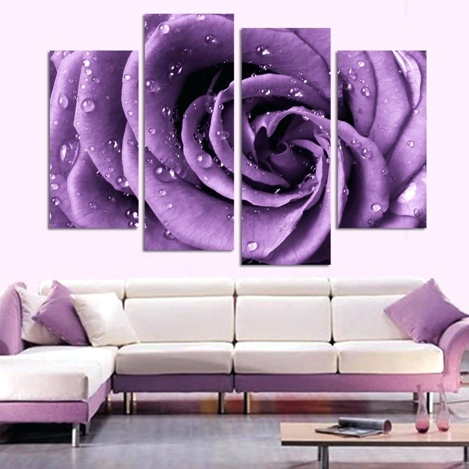 Wall Ideas : Lavender Canvas Wall Art Lavender Sunset Wall Art Throughout Purple Bathroom Wall Art (View 7 of 20)