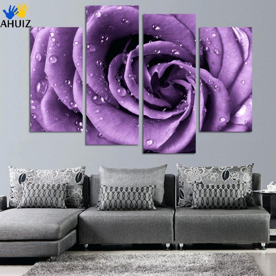 Wall Ideas : Lavender Metal Wall Art Large Landscape Wall Art On Regarding Purple Bathroom Wall Art (Photo 16 of 20)