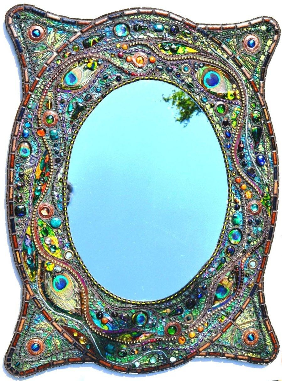 Wall Ideas : Love Mosaic Mirror Wall Art Hanging With Peace Sign Regarding Diy Mosaic Wall Art (Image 19 of 20)