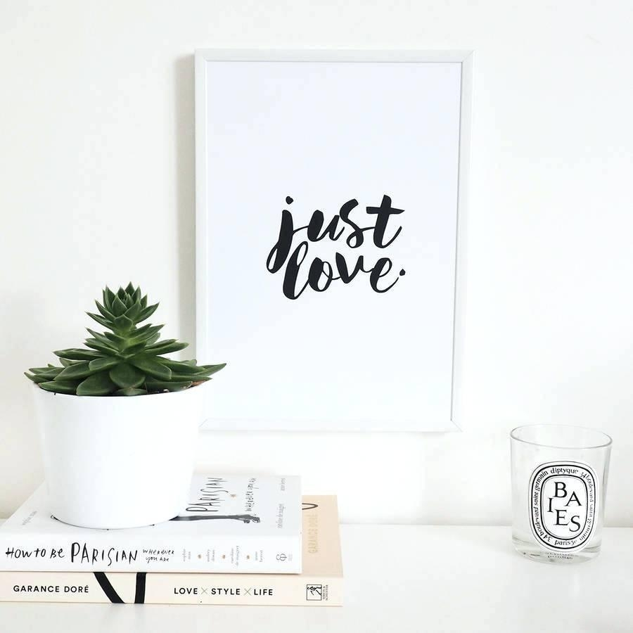 Wall Ideas: Love Wall Art. Love Quote Canvas Wall Art (View 10 of 20)