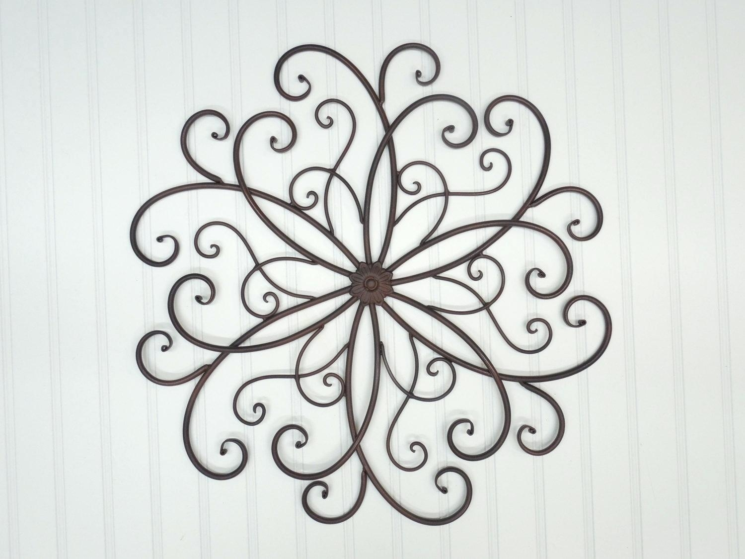 Wall Ideas: Metal Scroll Wall Decor (View 3 of 20)