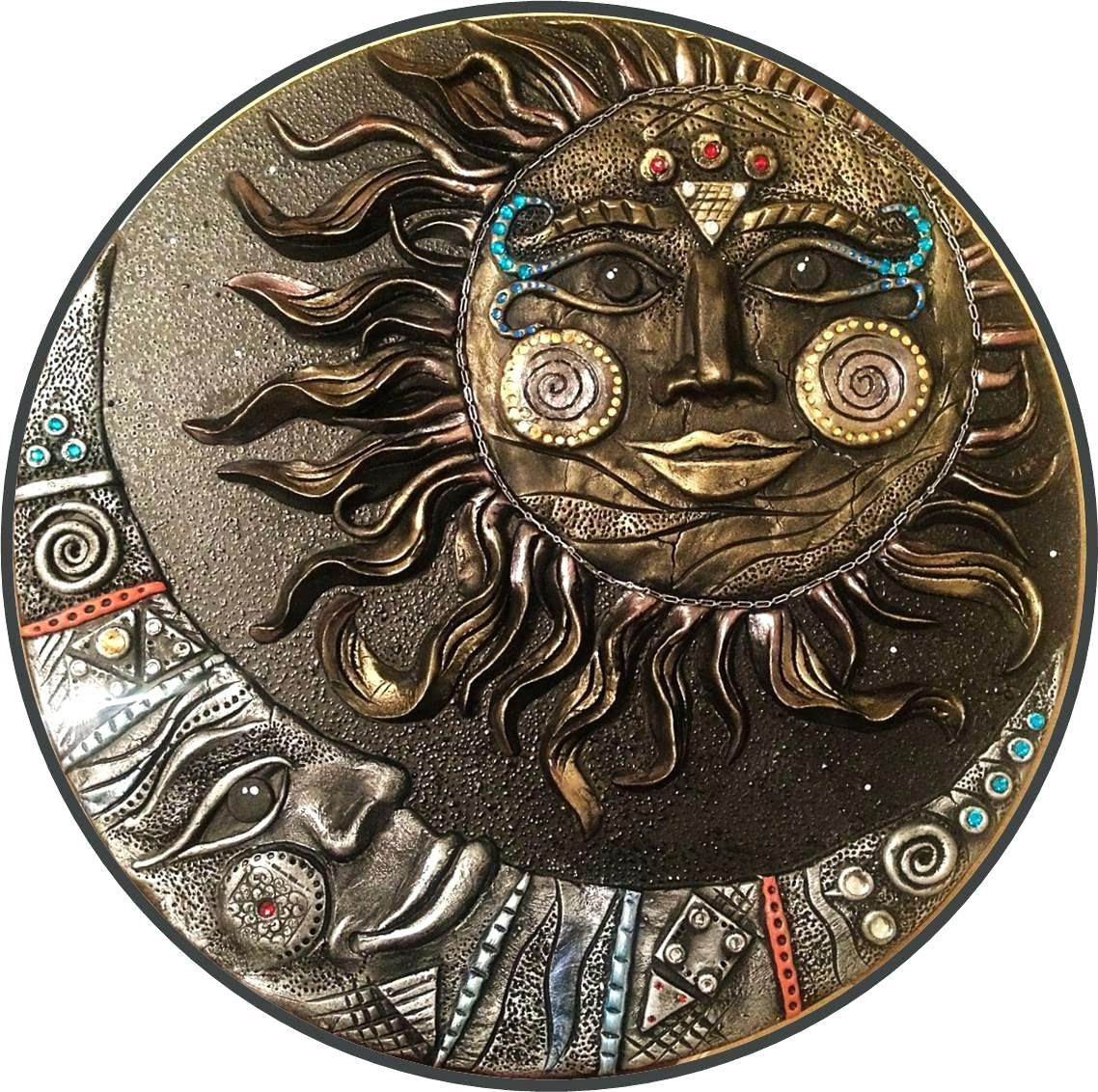 20 best sun and moon metal wall art wall art ideas. Black Bedroom Furniture Sets. Home Design Ideas