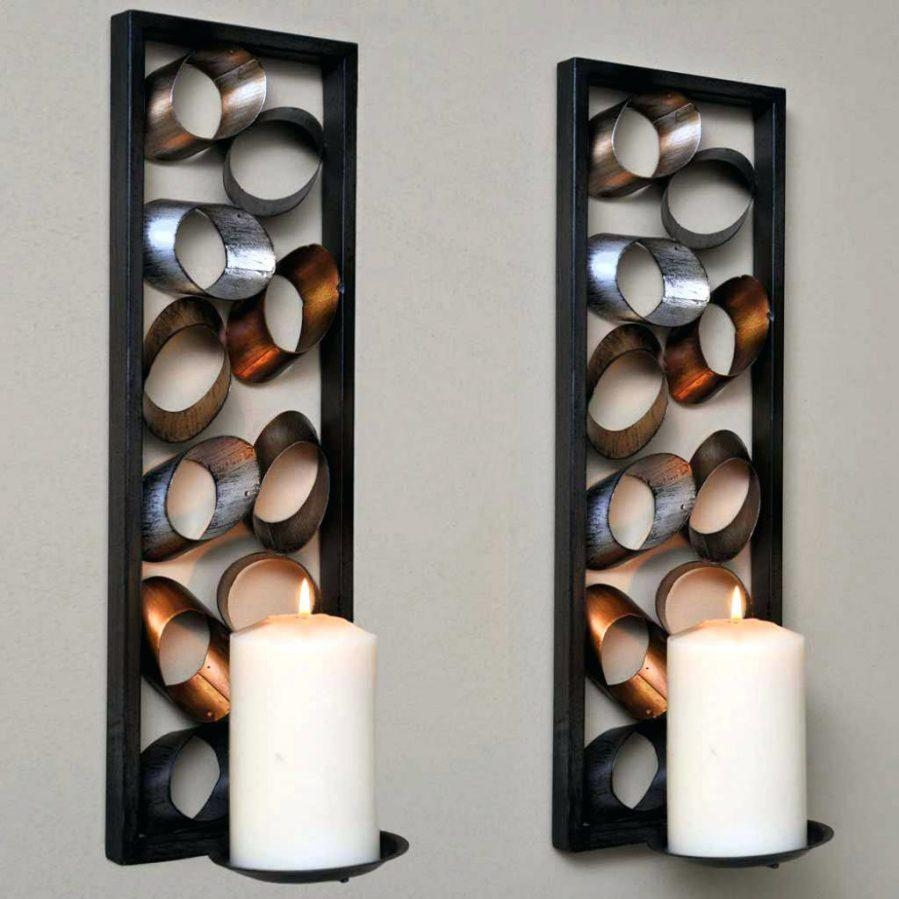 Wall Ideas : Metal Wall Candle Holders Metal Wall Candle Holders Within Metal Wall Art With Candles (Image 14 of 20)
