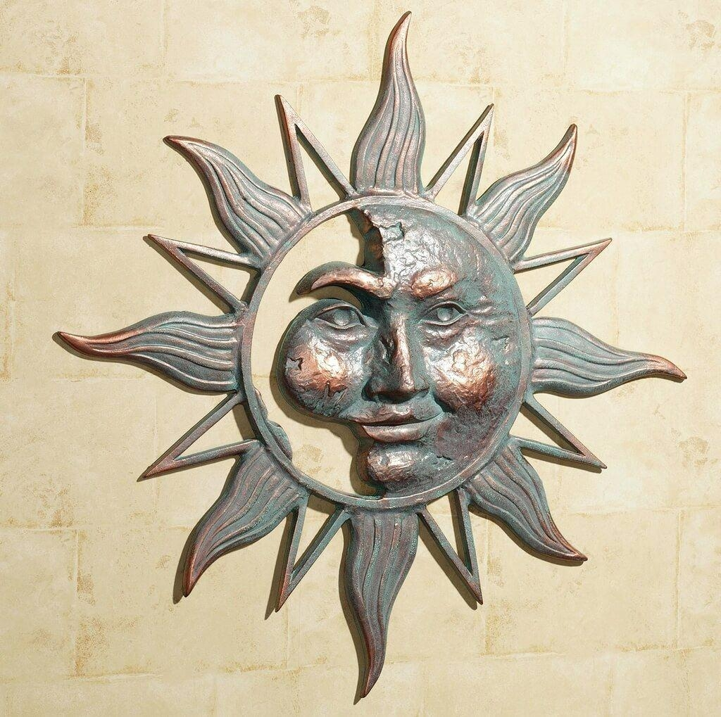 Wall Ideas : Metal Wall Decor Canada Outdoor Metal Sun Wall Art Inside Large Metal Sun Wall Art (Image 16 of 20)