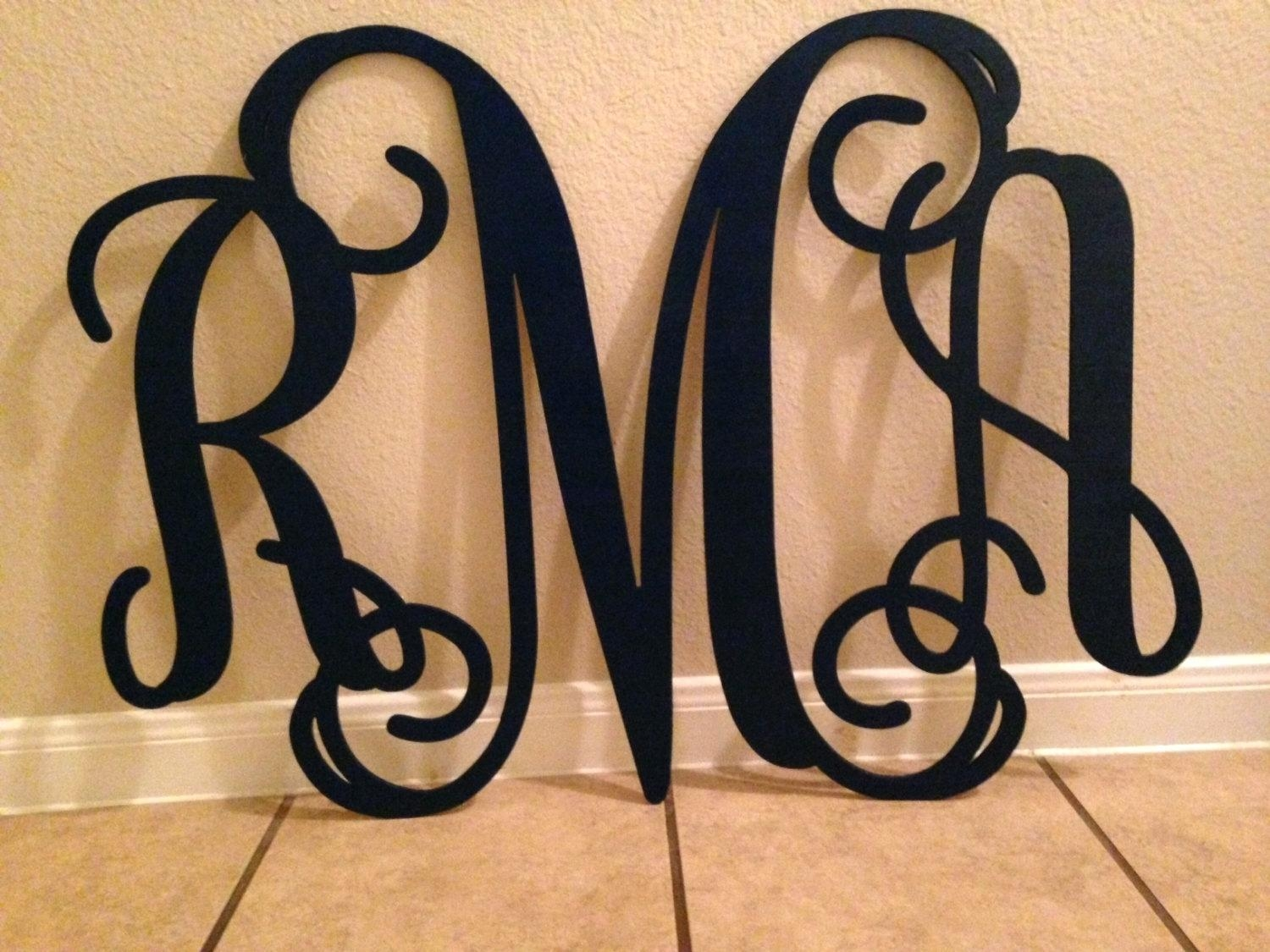 Wall Ideas: Monogrammed Wall Decor (Image 20 of 20)