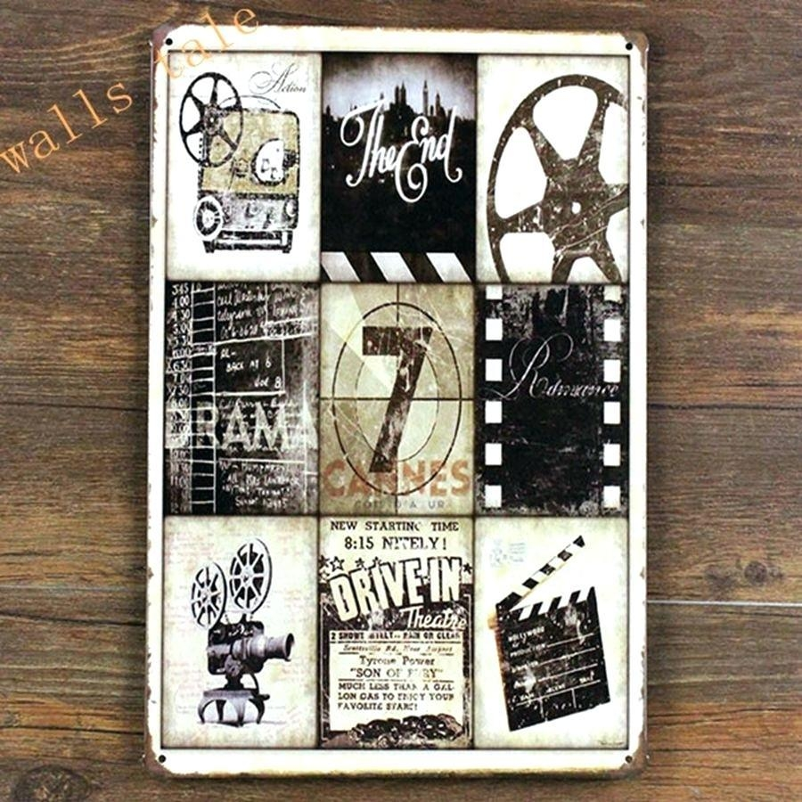 Retro Home Theater Design: 20 Top Movie Themed Wall Art