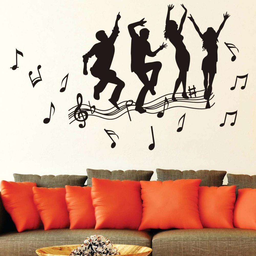 Wall Ideas : Musical Wall Art Decals Music Wall Art Stickers Uk Regarding Music Notes Wall Art Decals (Image 17 of 20)