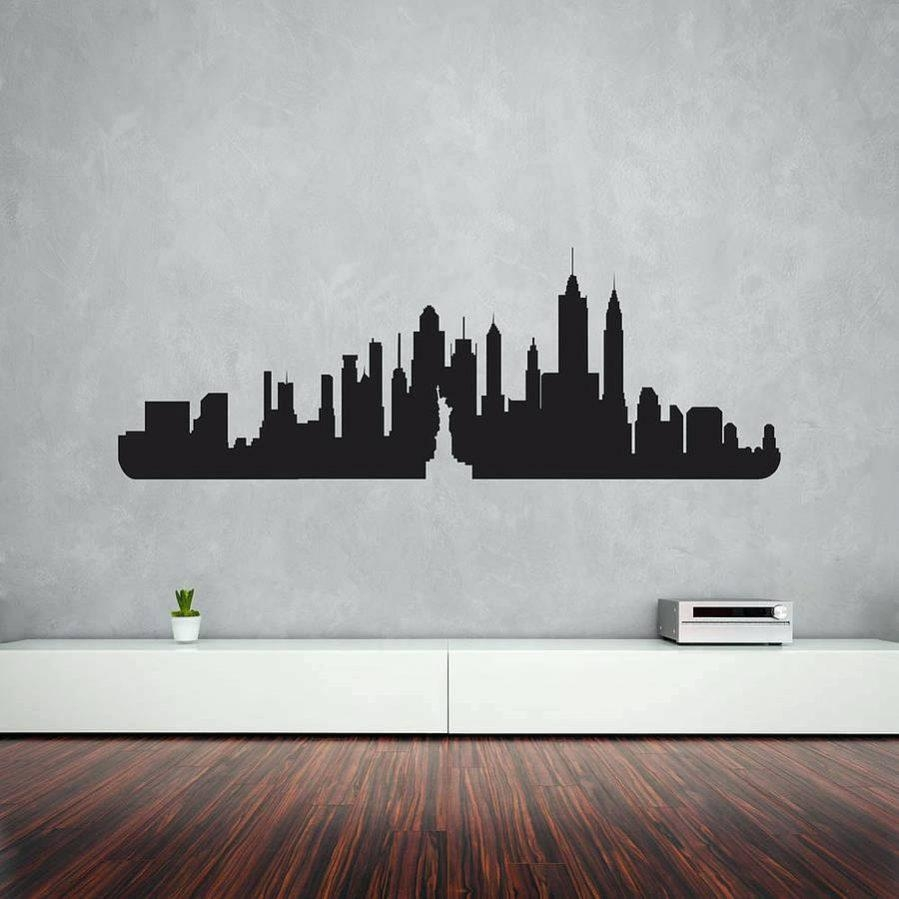 Featured Photo of Metal Wall Art New York City Skyline