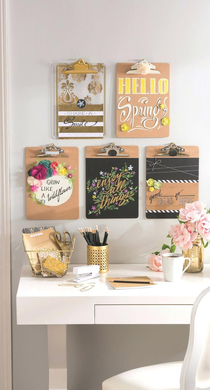 Wall Ideas : Office Organization Ideas Clipboard Wall Art Source Throughout Wall Art For Office Space (Image 17 of 20)