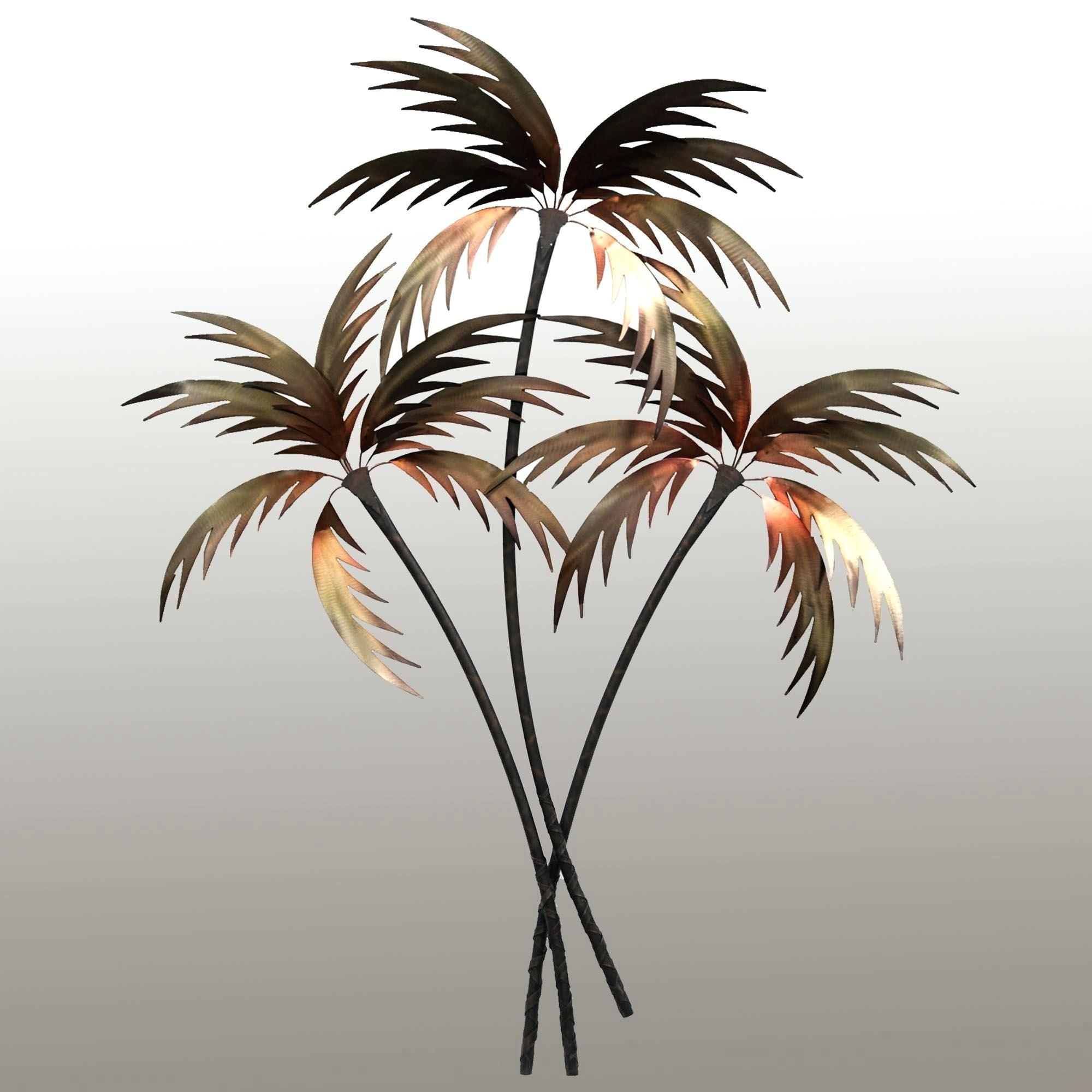 Wall Ideas : Outdoor Metal Wall Art Palm Tree Tropical Metal Wall With Palm Tree Metal Wall Art (Image 20 of 20)