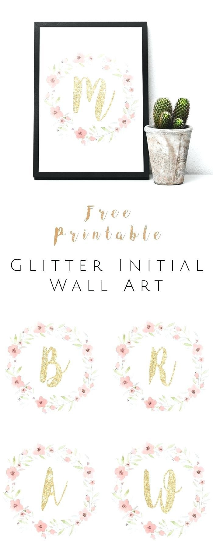 Wall Ideas : Outdoor Monogram Wall Art Monogrammed Nursery Wall Regarding Monogram Metal Wall Art (View 18 of 20)