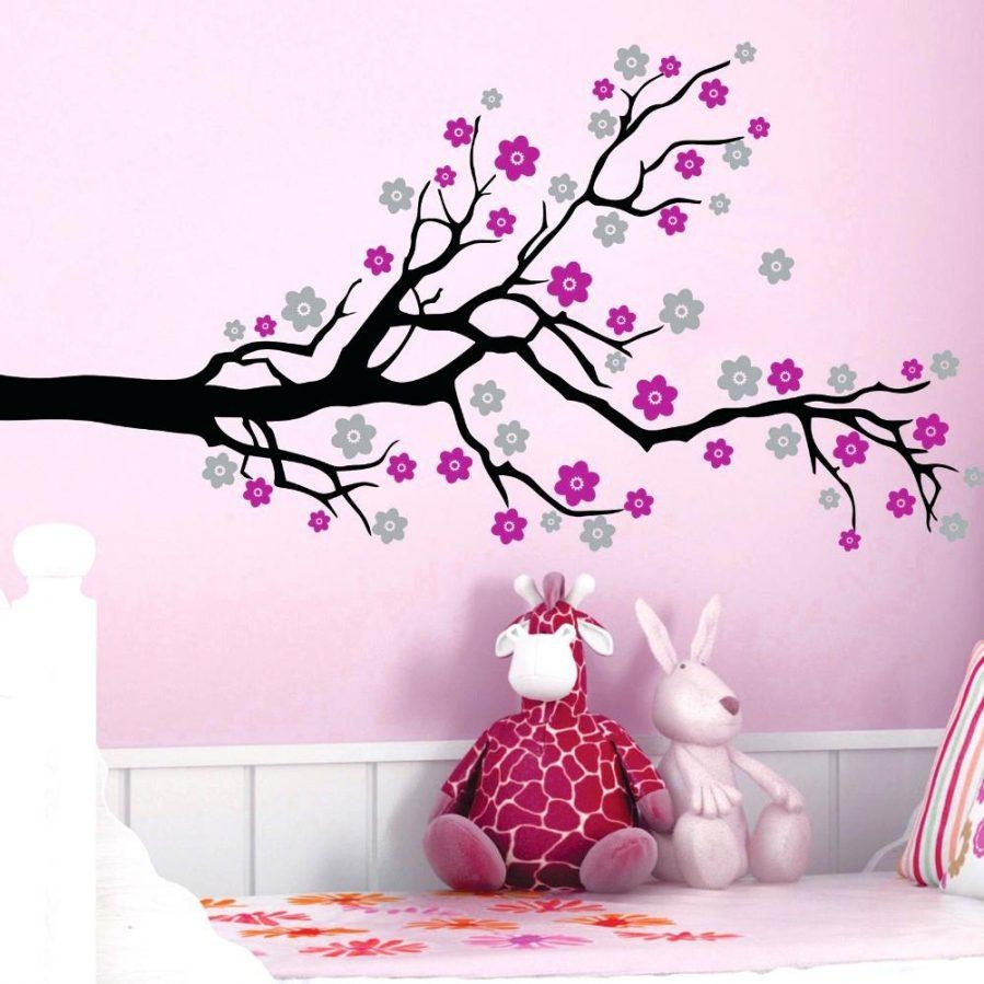 Wall Ideas : Owl Tree Vinyl Wall Art Tree Sticker Wall Decor Tree Throughout Cherry Blossom Vinyl Wall Art (View 5 of 20)