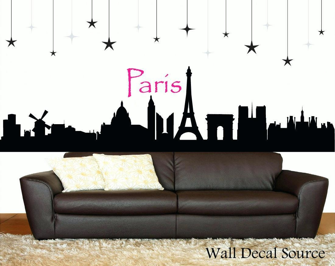 Wall Ideas : Paris Wall Art Decor Paris Skyline Silhouette Wall For Parisian Wall Art (View 6 of 20)
