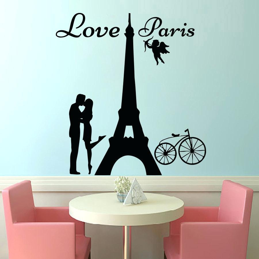 Wall Ideas: Paris Wall Mural. Paris Cafe Wall Decals (View 5 of 20)