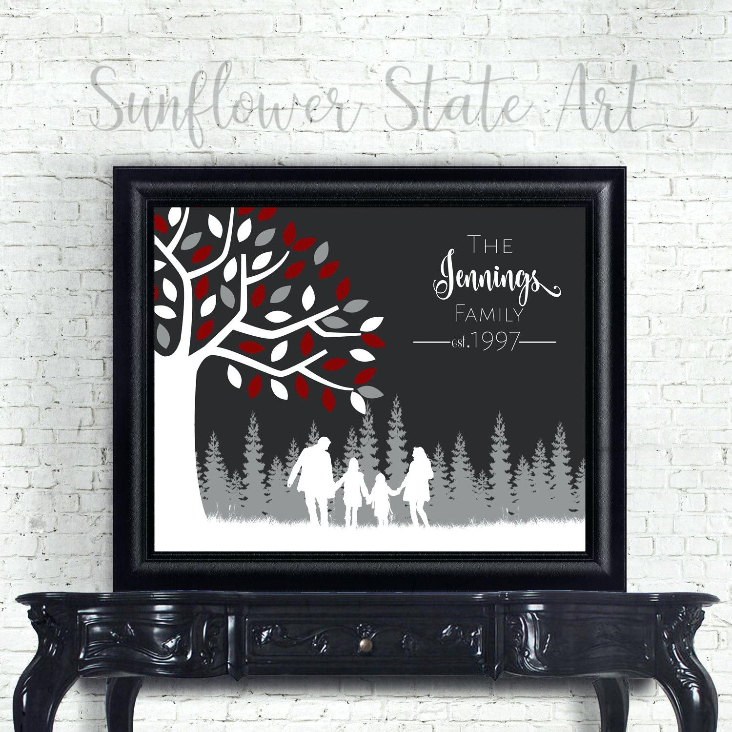 Wall Ideas: Personalized Family Wall Art (View 14 of 20)
