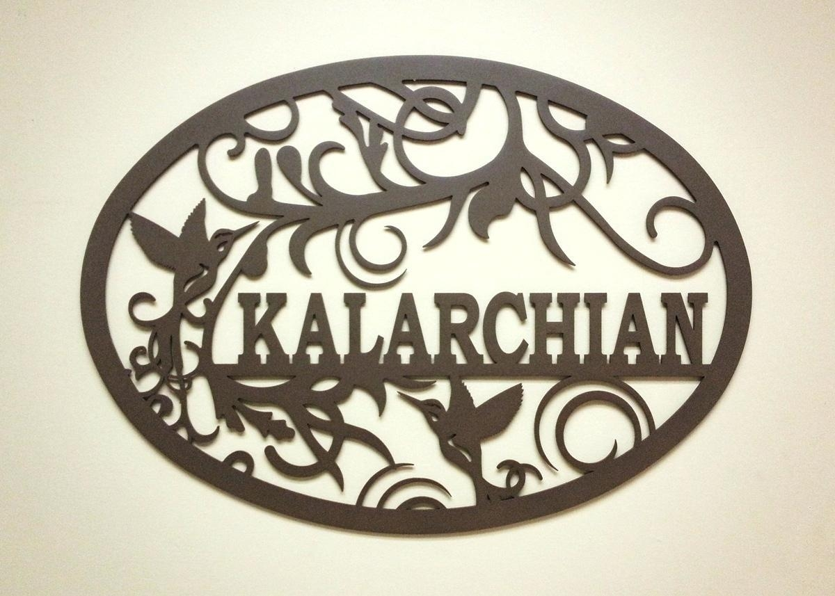 Wall Ideas: Personalized Metal Wall Art (Image 19 of 20)