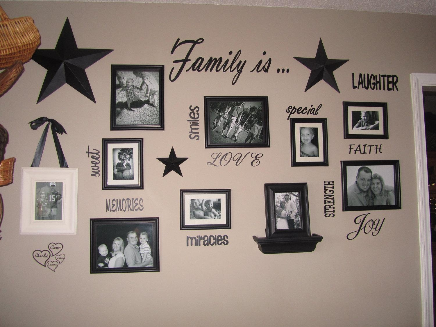 Wall Ideas: Photo Collage Wall Design (Image 20 of 20)