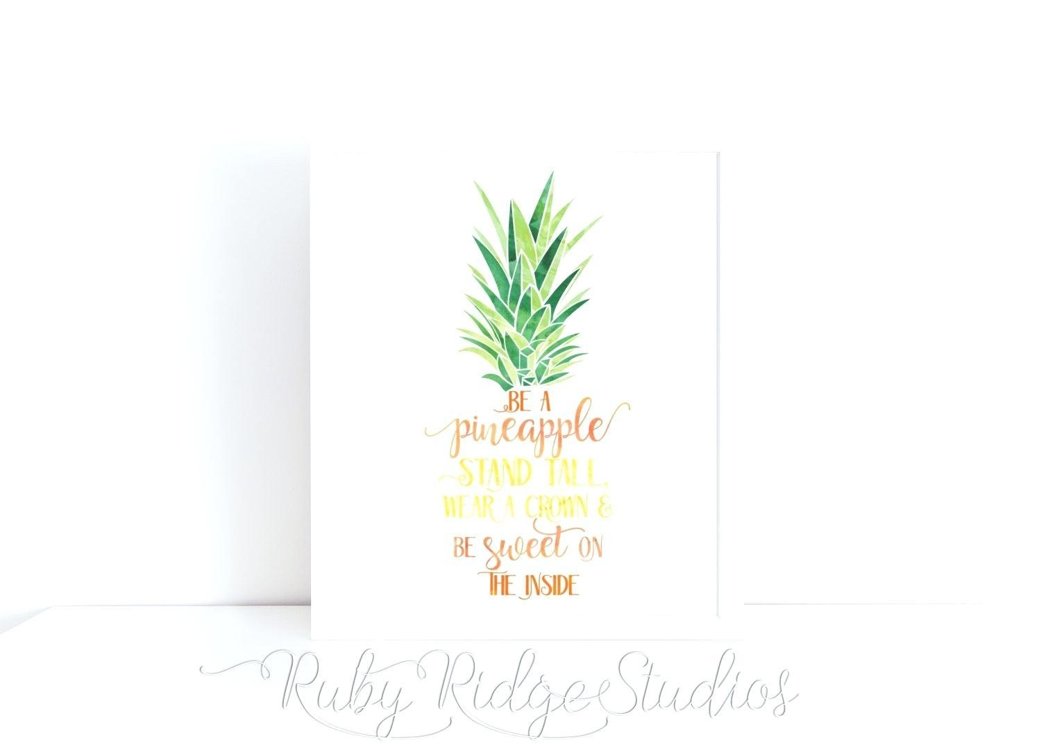 Wall Ideas: Pineapple Wall Art. Pineapple Wall Art Print (View 10 of 20)