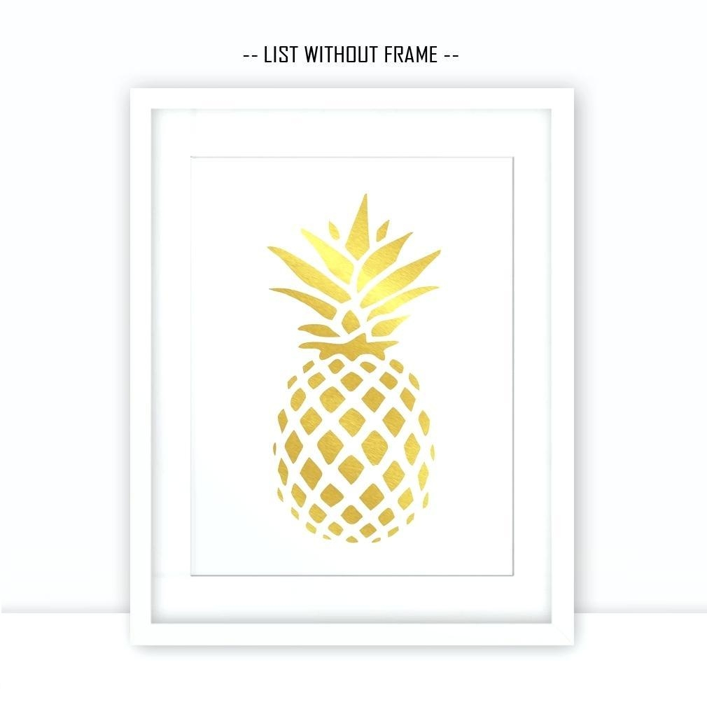 Wall Ideas: Pineapple Wall Art. Pineapple Wall Art Print (View 6 of 20)