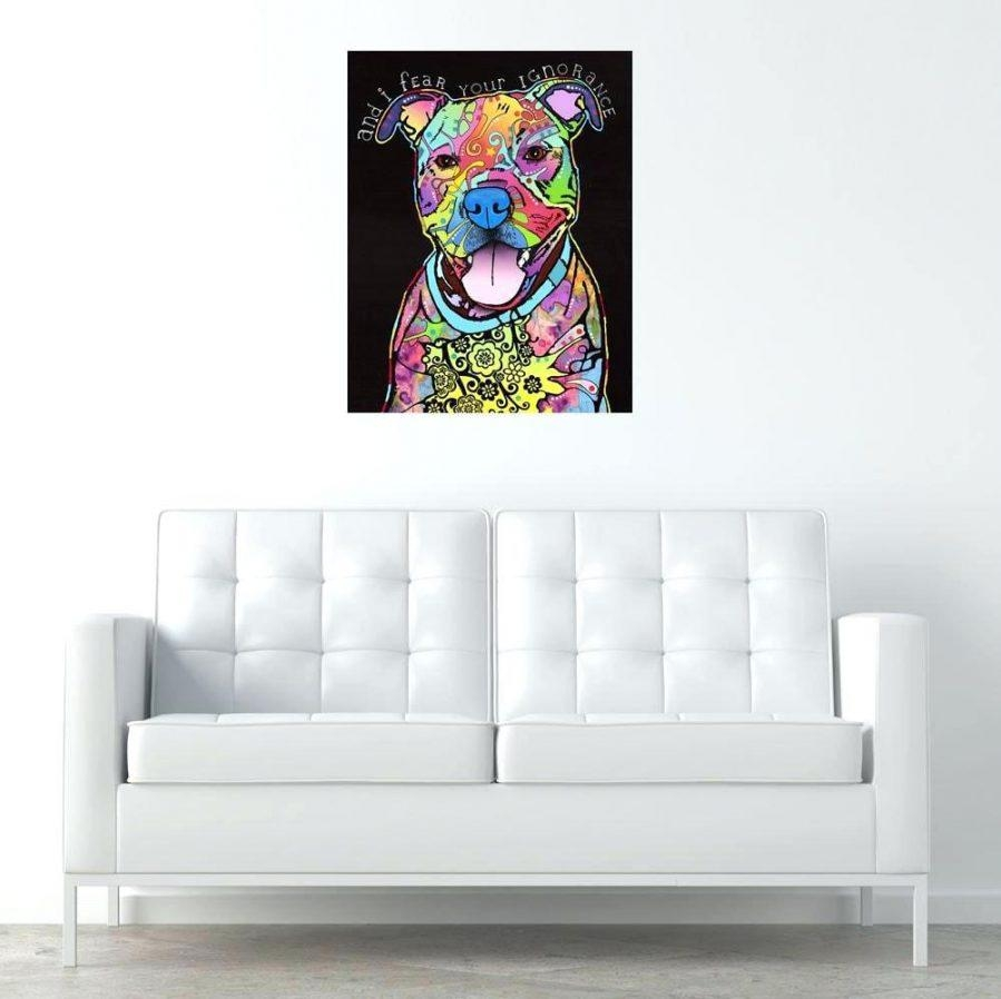 Wall Ideas : Pitbull Canvas Wall Art Pitbull Metal Wall Art For Pitbull Wall Art (View 8 of 20)