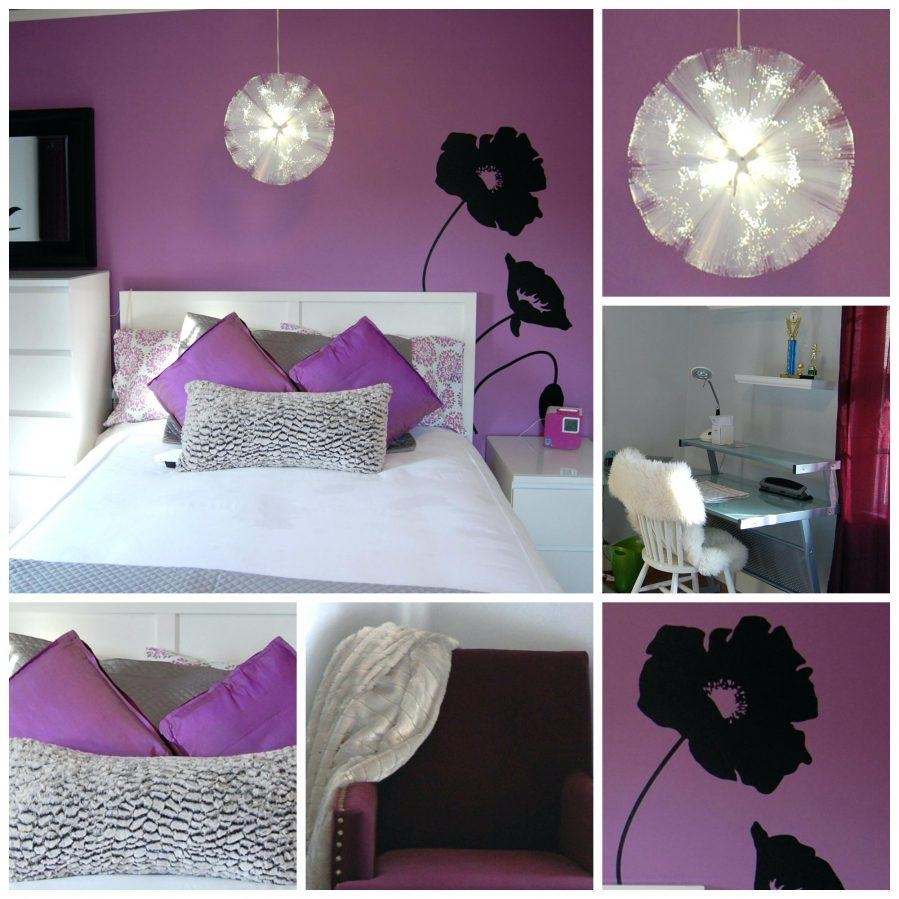 Wall Ideas : Purple Wall Designs For A Bedroom Purple Bedroom Wall With Purple Wall Art For Bedroom (Image 20 of 20)