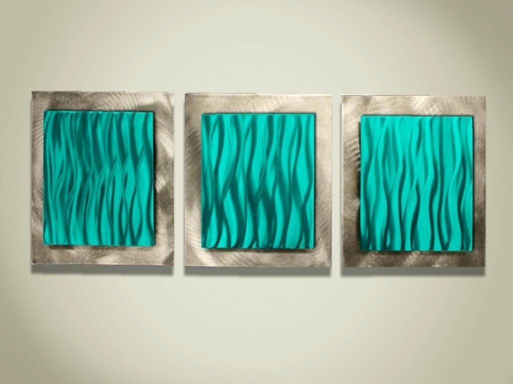 Featured Photo of Turquoise Metal Wall Art