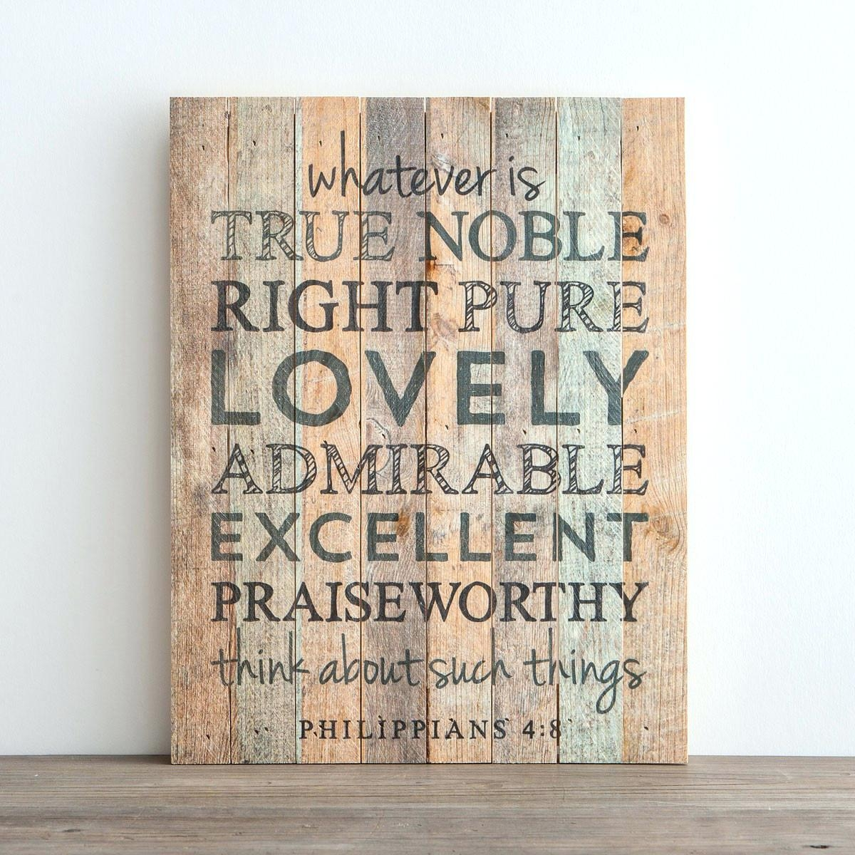 Wall Ideas: Scripture Wall Art (View 3 of 20)
