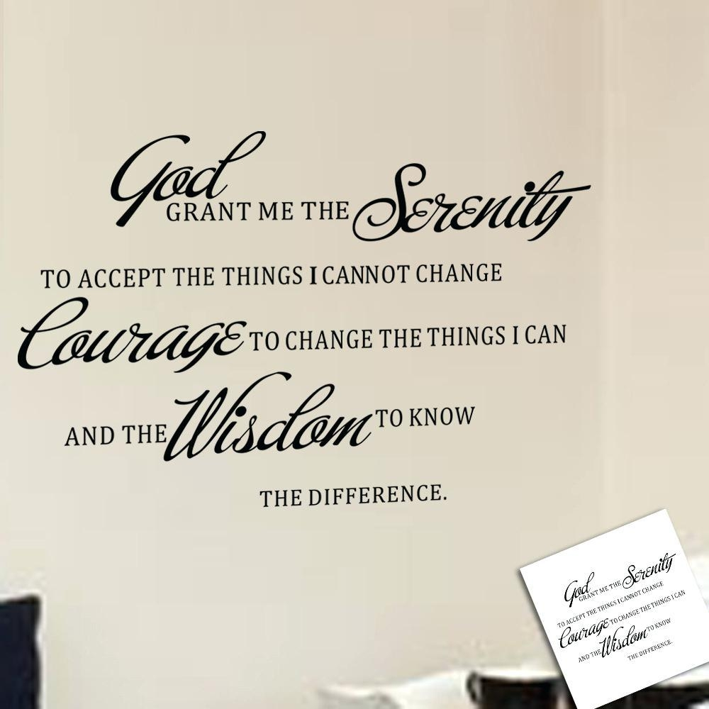 Wall Ideas: Serenity Prayer Wall Art (View 10 of 20)