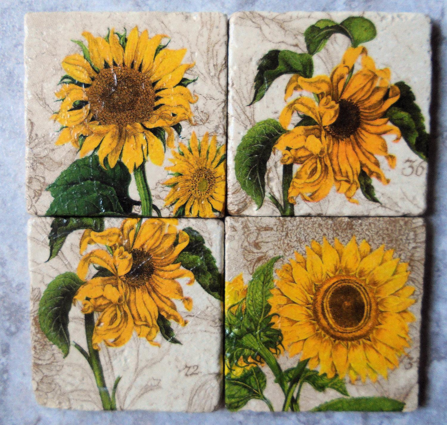 Wall Ideas: Sunflower Wall Decor Photo (Image 18 of 20)